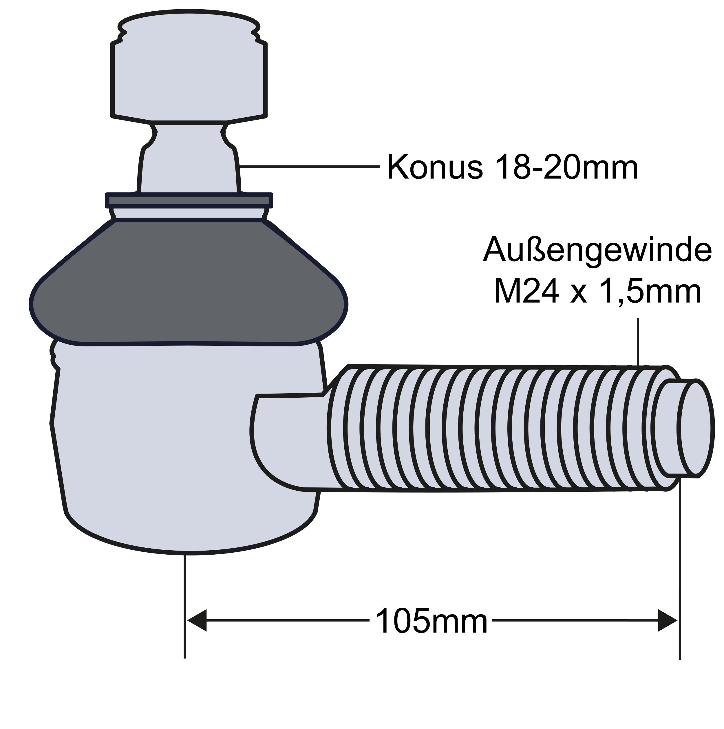 4x Staubkappe Manschette für Spurstange oder Lenkstange beim Traktor 19