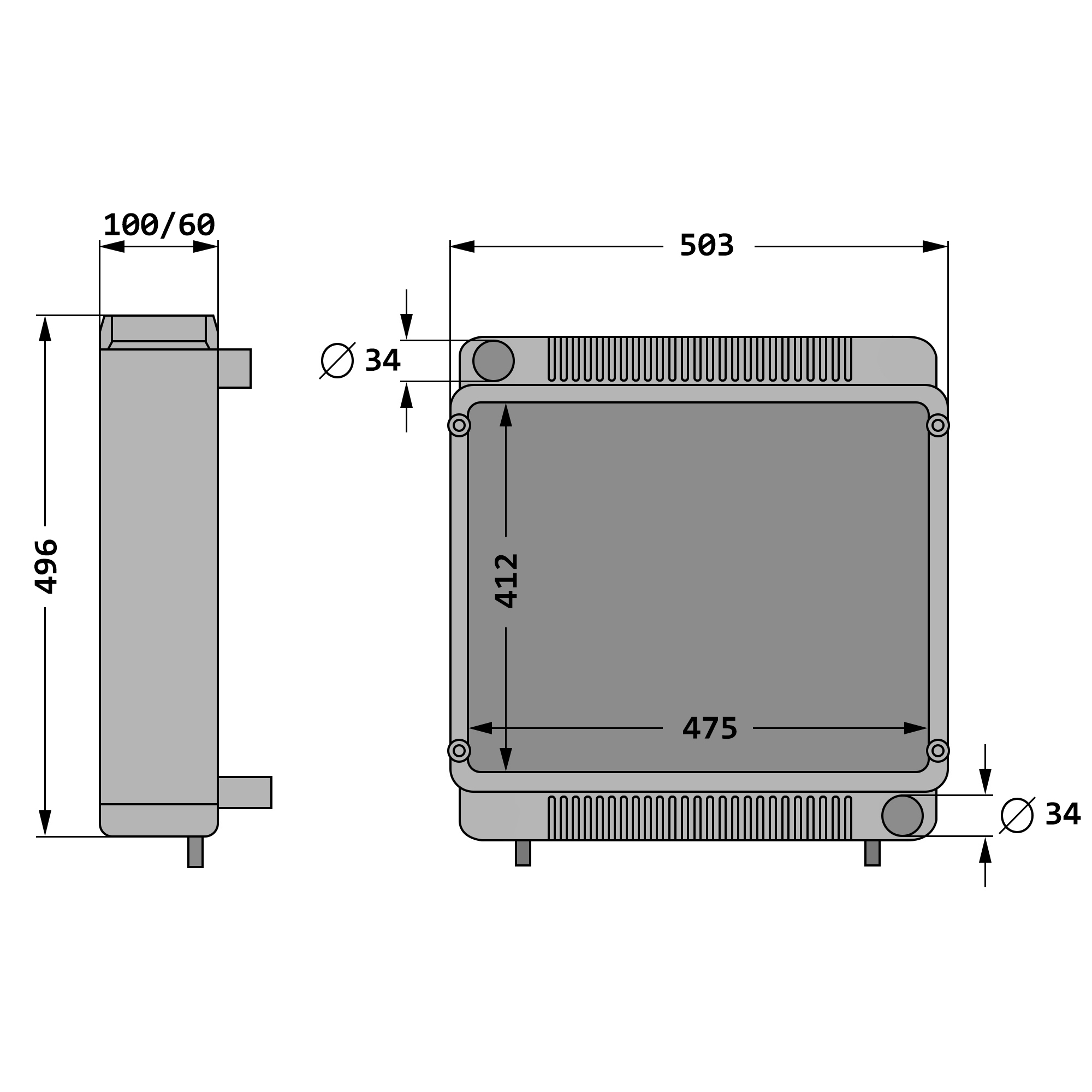 2 x YOU.S Gasfeder für DEUTZ Agrotron 4.70-4.95 6.01-6.45  Dachluke