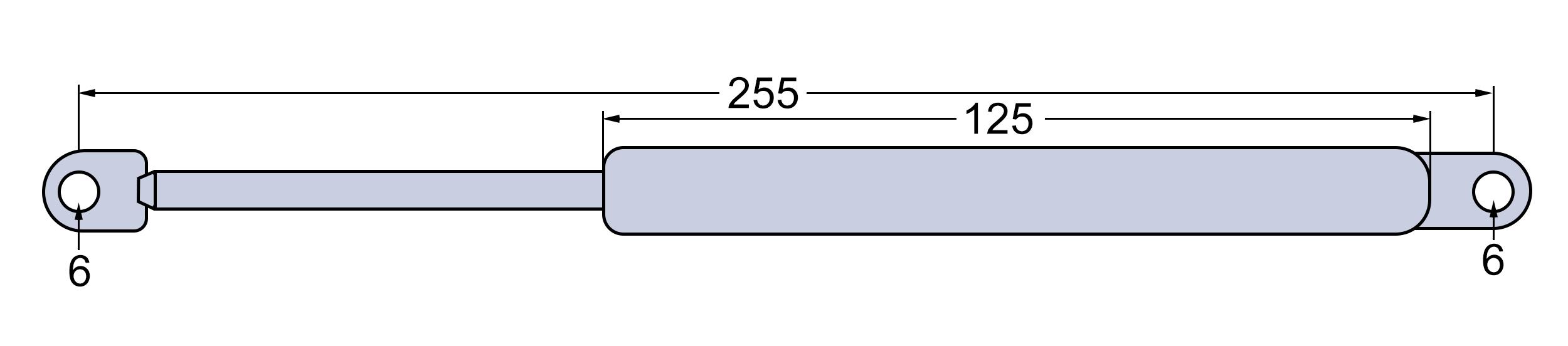 Gasdämpfer Gasfeder für CASE IHC XL Kabine Tür neu //